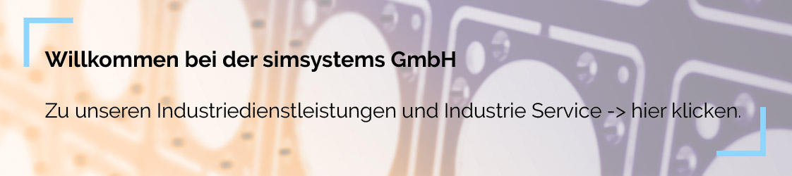 Simsystems Industrie Service Hinweis